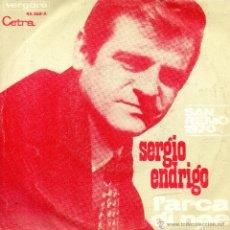Discos de vinilo: . SINGLE SERGIO ENDRIGO L'ARCA DI NOE DALL'AMERICA SAN REMO 1970 . Lote 45920847