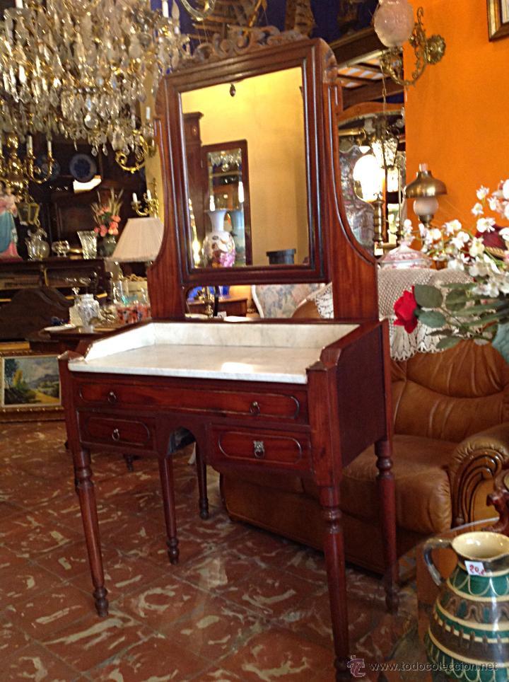 BONITO Y ANTIGUO TOCADOR CON ESPEJO / MEDIDAS 175X86CM (Antigüedades - Muebles Antiguos - Consolas Antiguas)