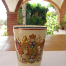Antigüedades: VASO CERÁMICA JUBILEO 1935 REY JORGE V GEORGE V REINA MARY. Lote 45939194