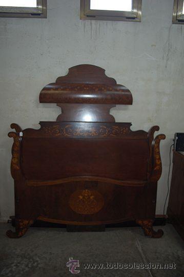 Antigua cama isabelina madera jacarand ca comprar - Cama antigua de madera ...