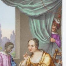 Antigüedades: PLACA DE PORCELANA PINTADA. Lote 45954035