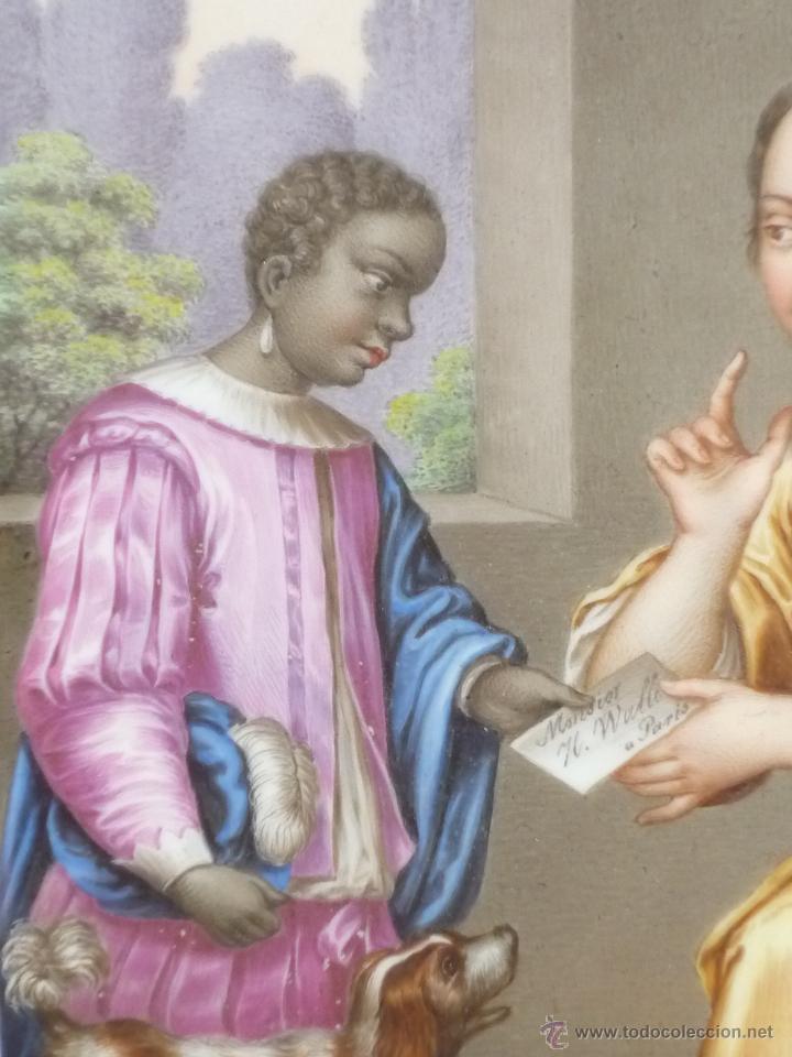 Antigüedades: Placa de porcelana pintada - Foto 7 - 45954035