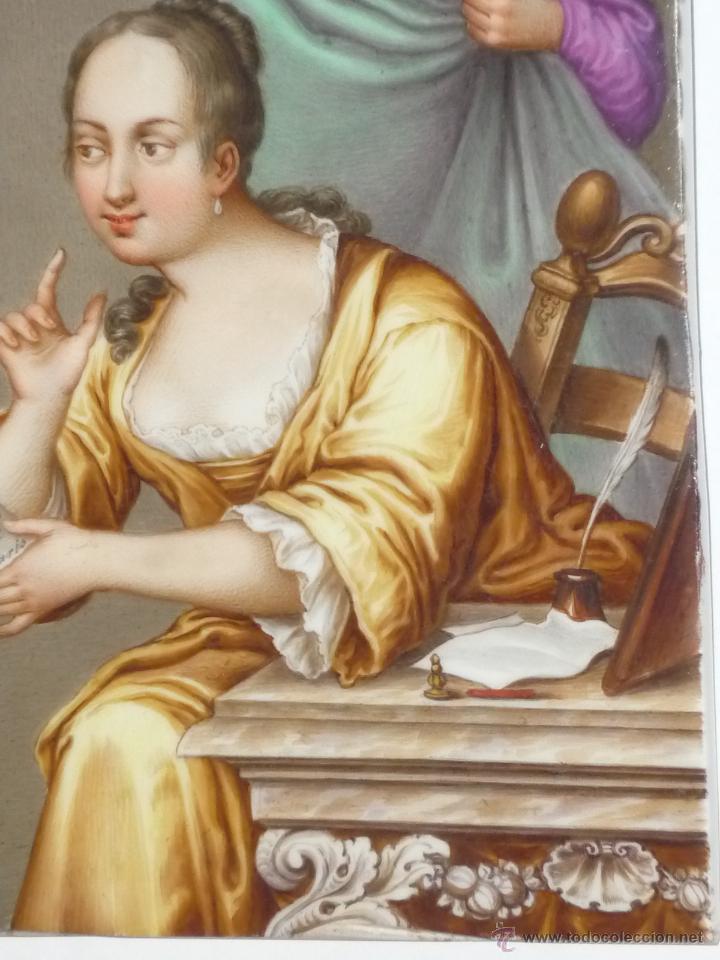 Antigüedades: Placa de porcelana pintada - Foto 8 - 45954035