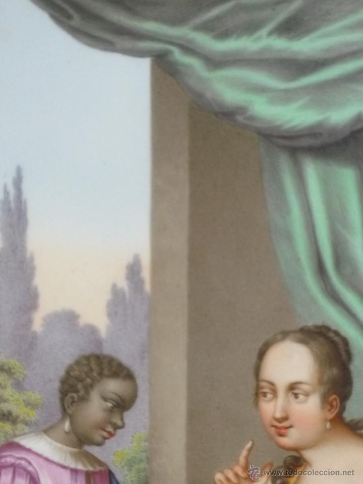 Antigüedades: Placa de porcelana pintada - Foto 10 - 45954035