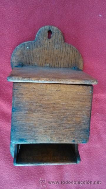 Antiguo salero de madera utensilio de cocina comprar for Saleros de cocina