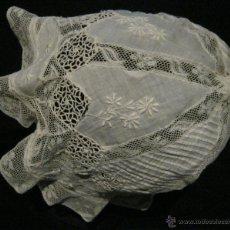 Antigüedades: ANTIGUO GORRO DE ENCAJE DE NORMANDIA PPIO. S.XX. Lote 45963591