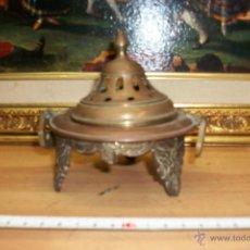 Antigüedades: ANTIGUO BRASERO DE BRONCE. Lote 45964901