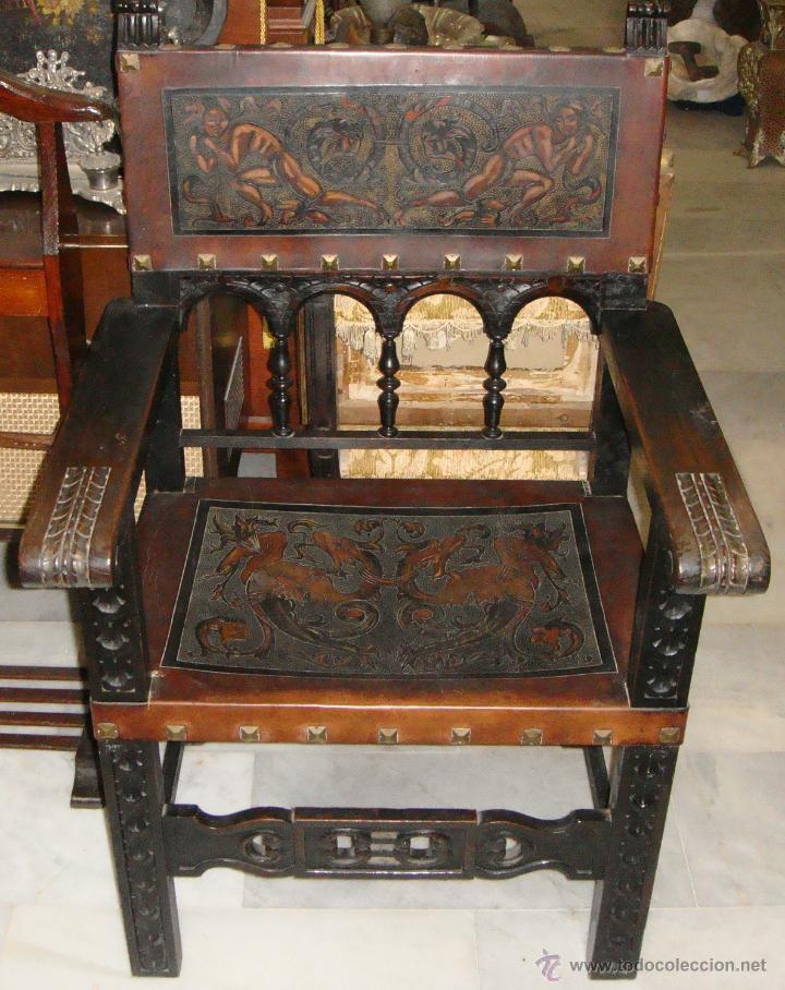 Antiguo sill n frailero de despacho cordob n comprar for Sillones antiguos