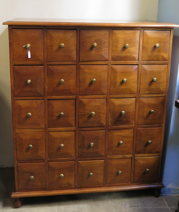 Antiguo y precioso archivador fichero de madera comprar for Mueble fichero