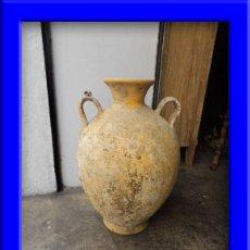 Antigüedades: TINAJA ORZA DE BARRO CON DOS ASAS Y EXTREMO SUPERIOR VIDRIADO. Lote 36767632