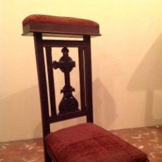 Antigüedades: ANTIGUO RECLINATORIO DE ORACIÓN SIGLO XIX – XX. Lote 45982849