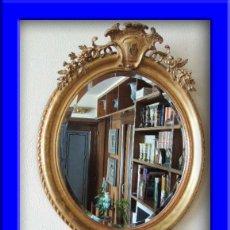 Antigüedades: PRECIOSO ESPEJO OVALADO FRANCES S.XIX. Lote 37124149