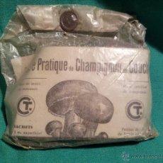 Antigüedades: SEMILLAS DE CHAMPIÑON--CRIA DEL CHAMPIÑON..AÑOS 30 CON PUBLICIDAD DE LA EPOCA EN SU INTERIOR. Lote 45984473