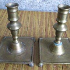 Antiques - PAREJA DE CANDELABROS - De bronce - estilo victoriano - 45986239