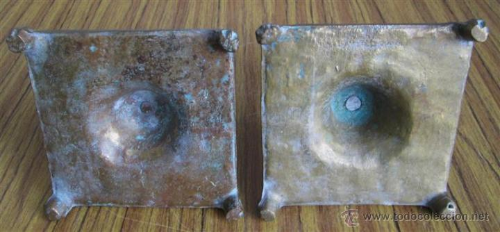 Antigüedades: PAREJA DE CANDELABROS - De bronce - estilo victoriano - Foto 2 - 45986239