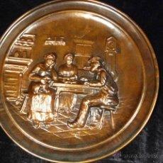 Antigüedades: PLATO DE COBRE REPUJADO. Lote 45988362