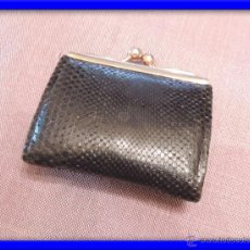Antigüedades: MONEDERO DE PIEL . Lote 45993067