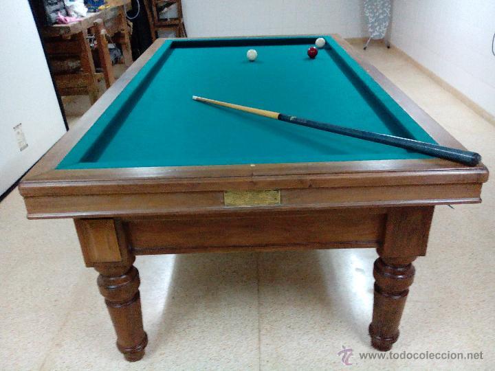 Mesa de billar comprar mesas antiguas en todocoleccion 45995549 - Mesa billar segunda mano ...