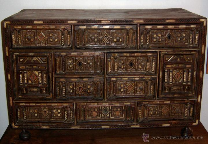 BARGUEÑO SALMANTINO DEL S XVII. (Antigüedades - Muebles Antiguos - Bargueños Antiguos)