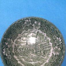 Antigüedades: CUENCO DE PORCELANA DE ROYAL TUDOR WARE - COACHING TAVERNS 1828 - STAFFORDSHIRE - INGLATERRA. Lote 46020428