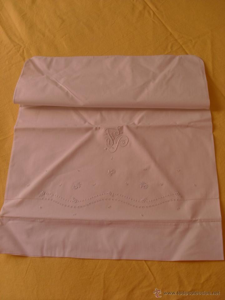 Antigüedades: Sábana de cama color blanco - Foto 2 - 46021023