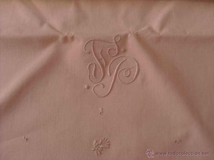Antigüedades: Sábana de cama color blanco - Foto 3 - 46021023