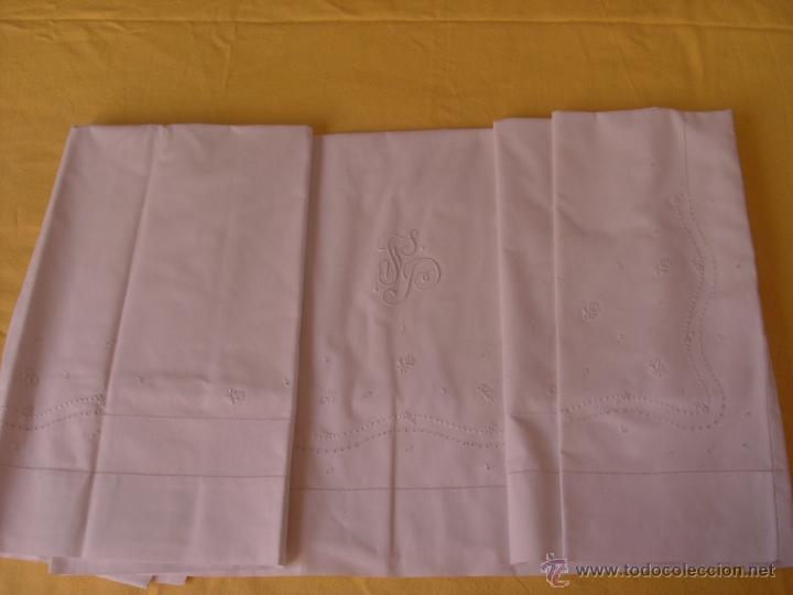 Antigüedades: Sábana de cama color blanco - Foto 5 - 46021023