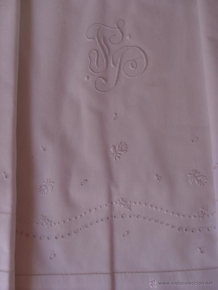 Antigüedades: Sábana de cama color blanco - Foto 7 - 46021023