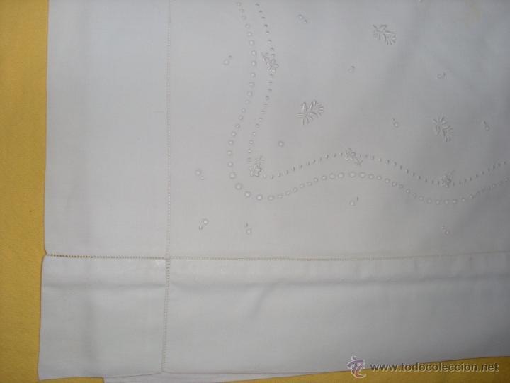 Antigüedades: Sábana de cama color blanco - Foto 14 - 46021023