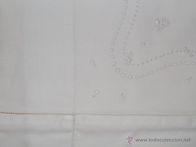Antigüedades: Sábana de cama color blanco - Foto 15 - 46021023