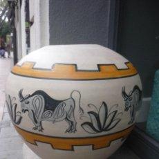 Antigüedades: GRAN JARRÓN DE TALAVERA DE LA MENORA. Lote 46027953
