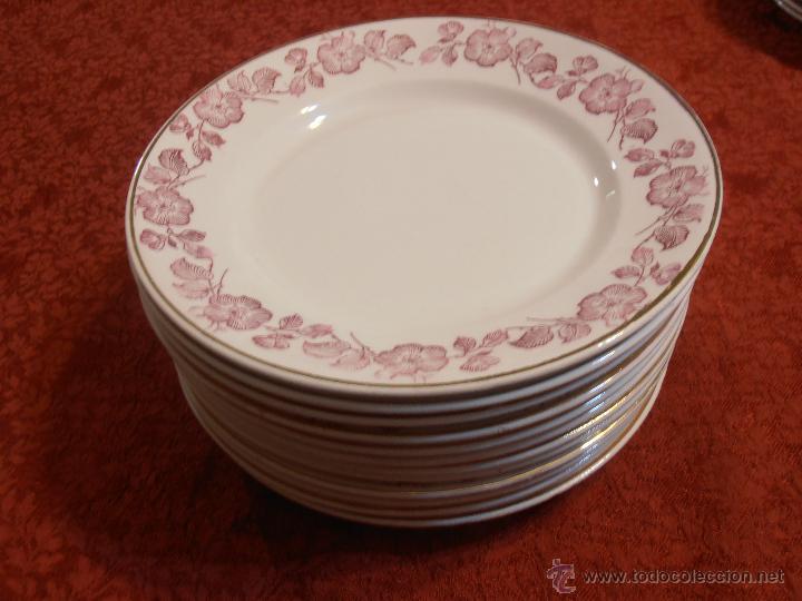 Antigüedades: 12 platos planos - Foto 14 - 46029091
