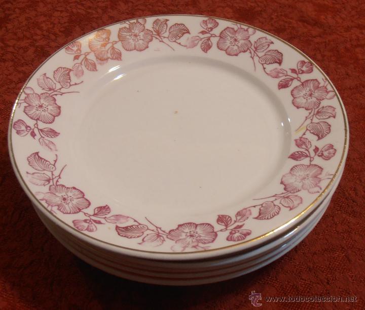 Antigüedades: 6 platos de postre - Foto 18 - 46029091