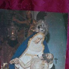 Antigüedades: ESTAMPA FOTO VIRGEN ANGUSTIAS AÑOS 70 SANLUCAR DE BARRAMEDA SEMANA SANTA. Lote 46037182