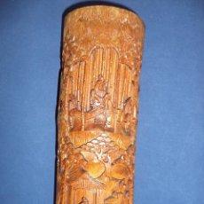 Antigüedades: POTE PARA PINCÉIS EM BAMBÚ - SÉC XIX - CHINO. Lote 46048663
