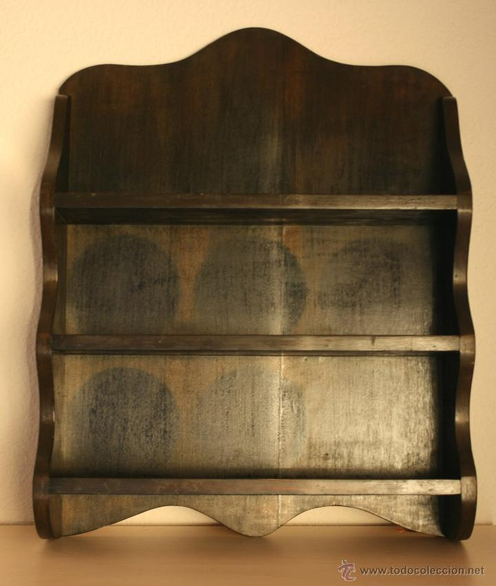Antiguo mueble platero de madera tipico para co comprar repisas antiguas en todocoleccion - Muebles cocina antiguos ...