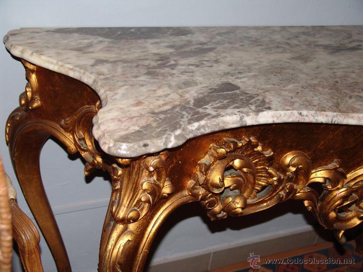 Antigüedades: MUY BONITA CONSOLA EN ORO FINO - Foto 5 - 46054431