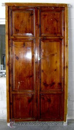 antigua e impresionante puerta en madera de pino mobila - Puertas De Madera Antiguas