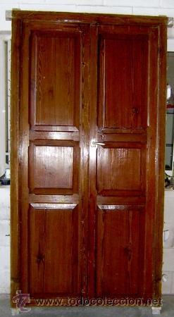 Antigua E Impresionante Puerta En Madera De Pin Vendido En Venta