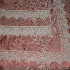Antigüedades: ENCAJE DE BOLILLOS PARA JUEGO DE CAMA DE MATRIMONIO. Lote 46071470