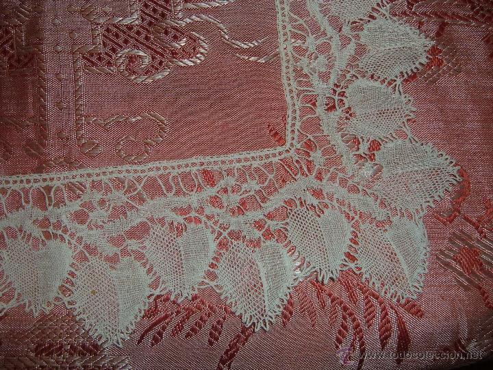 Antigüedades: Encaje de bolillos para juego de cama de matrimonio - Foto 2 - 46071470