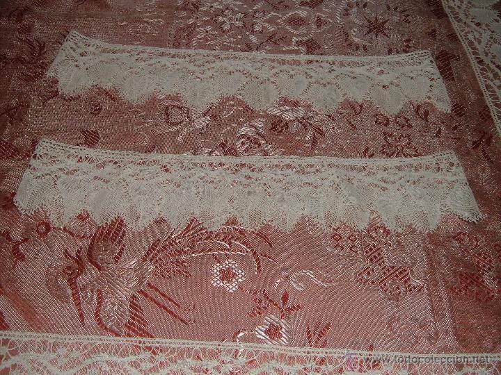 Antigüedades: Encaje de bolillos para juego de cama de matrimonio - Foto 3 - 46071470