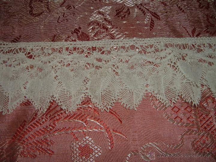 Antigüedades: Encaje de bolillos para juego de cama de matrimonio - Foto 5 - 46071470