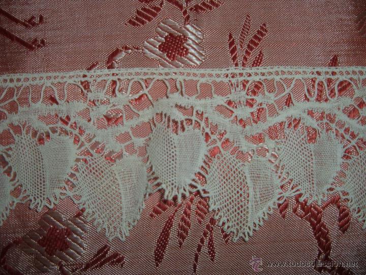 Antigüedades: Encaje de bolillos para juego de cama de matrimonio - Foto 6 - 46071470