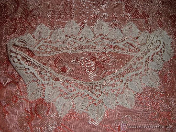 Antigüedades: Encaje de bolillos para juego de cama de matrimonio - Foto 7 - 46071470