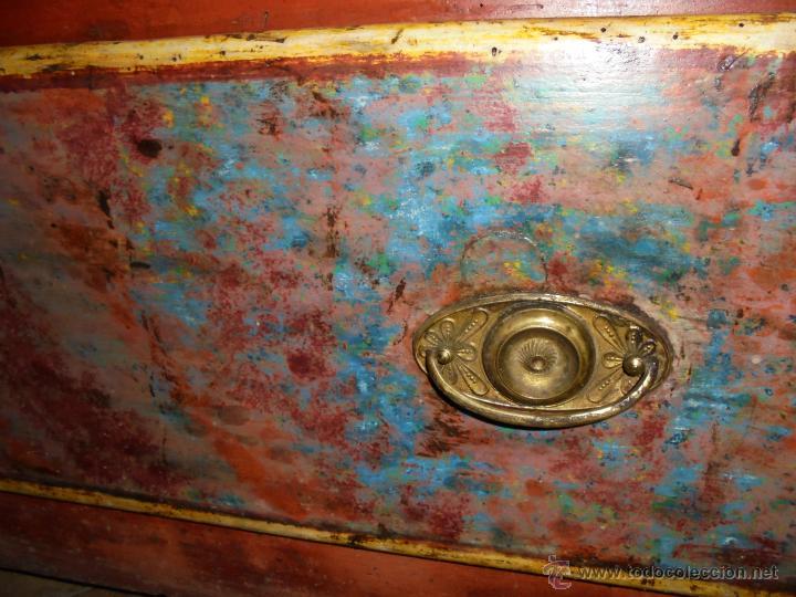 Antigüedades: Armario policromado del SXVIII. - Foto 3 - 46073606