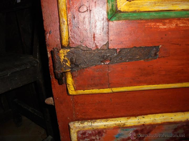 Antigüedades: Armario policromado del SXVIII. - Foto 4 - 46073606