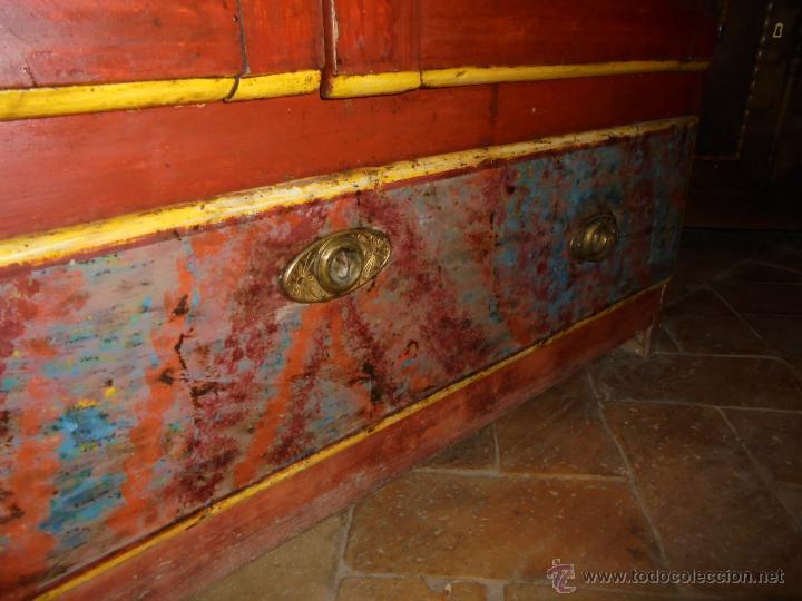 Antigüedades: Armario policromado del SXVIII. - Foto 5 - 46073606