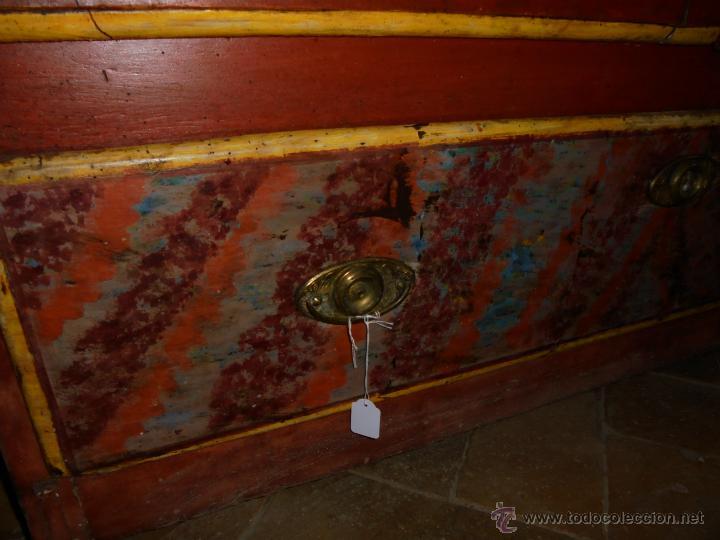 Antigüedades: Armario policromado del SXVIII. - Foto 6 - 46073606
