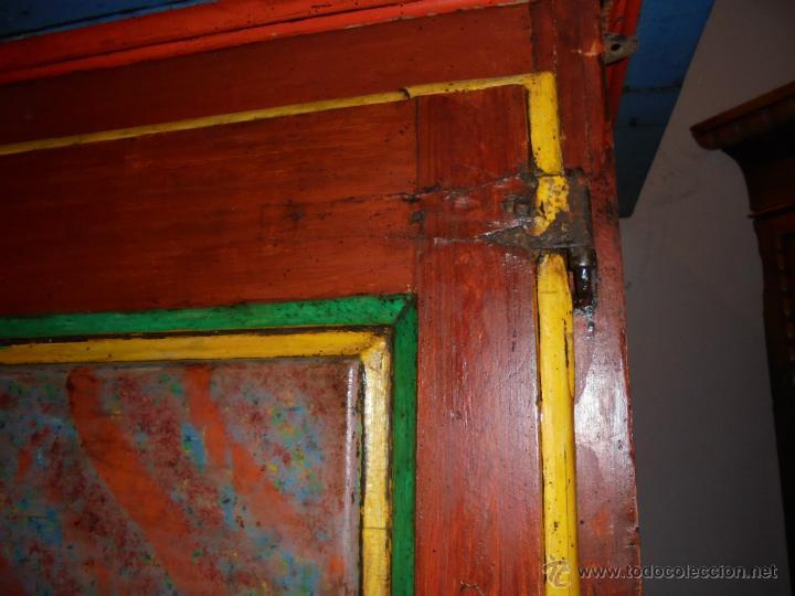 Antigüedades: Armario policromado del SXVIII. - Foto 7 - 46073606